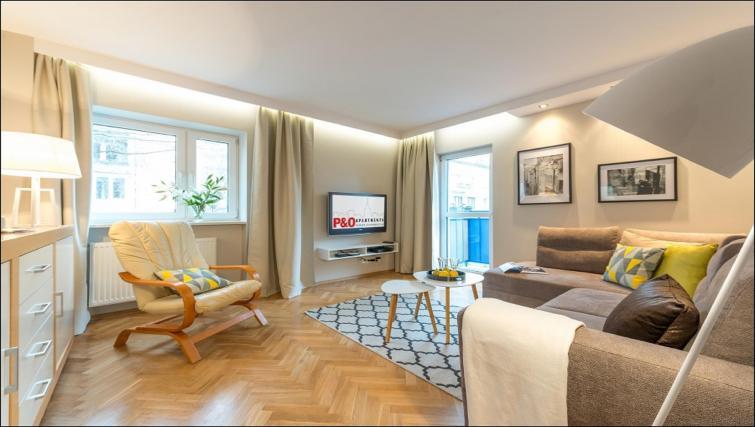 Living room at Chmielna Apartment