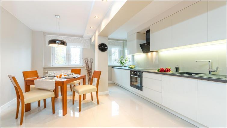 Kitchen at Chmielna Apartment