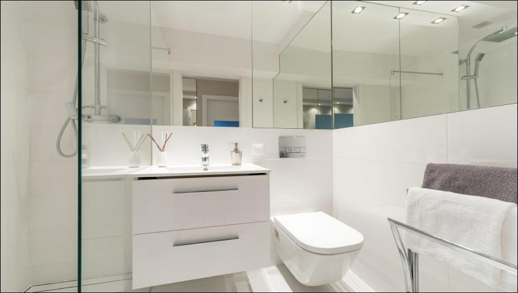 Bathroom at Chmielna Apartment