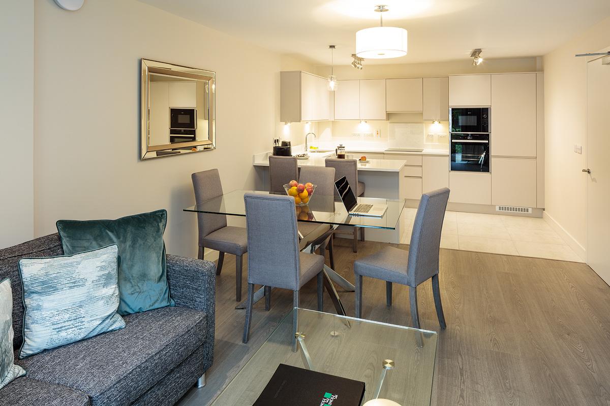 Dining area at Baggot Rath House Apartments, Ballsbridge, Dublin