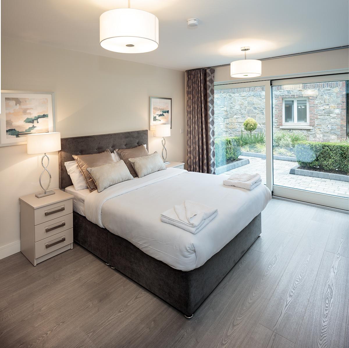 Bedroom at Baggot Rath House Apartments, Ballsbridge, Dublin