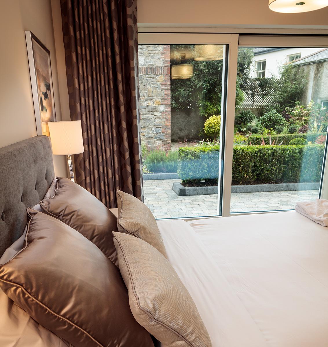 Bedroom doors at Baggot Rath House Apartments, Ballsbridge, Dublin