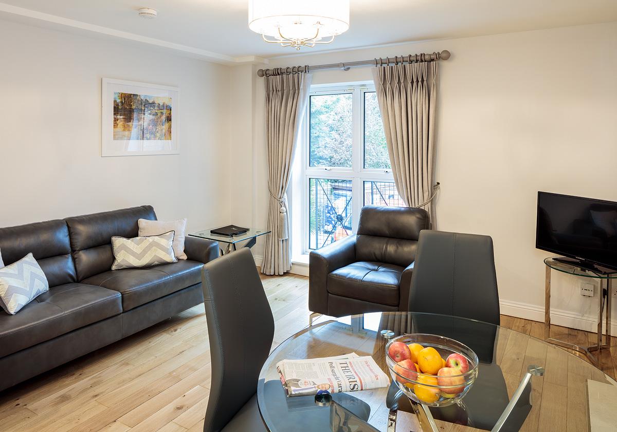 Living/Dining at Baggot Rath House Apartments, Ballsbridge, Dublin