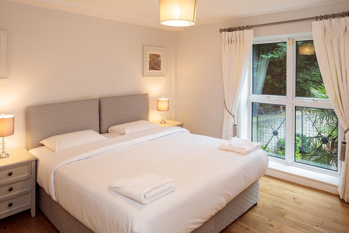 Second bedroom at Baggot Rath House Apartments, Ballsbridge, Dublin