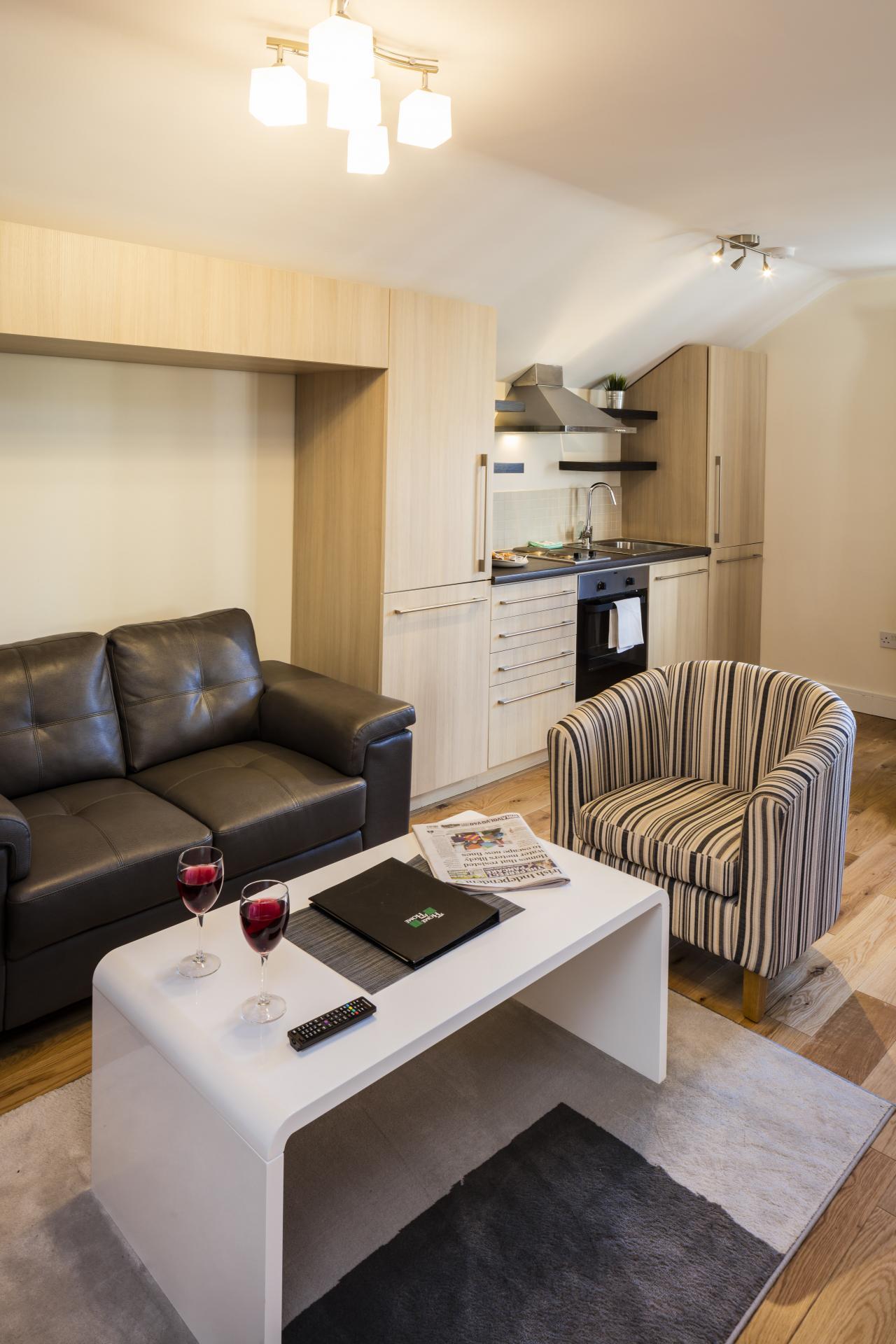 Sofas at Baggot Rath House Apartments, Ballsbridge, Dublin