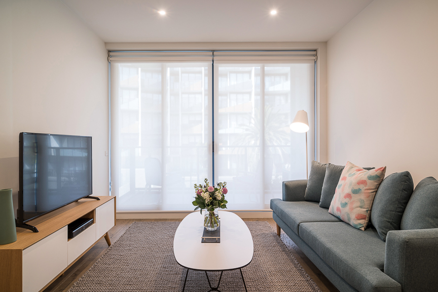 Living room at Sandy Hill Apartments