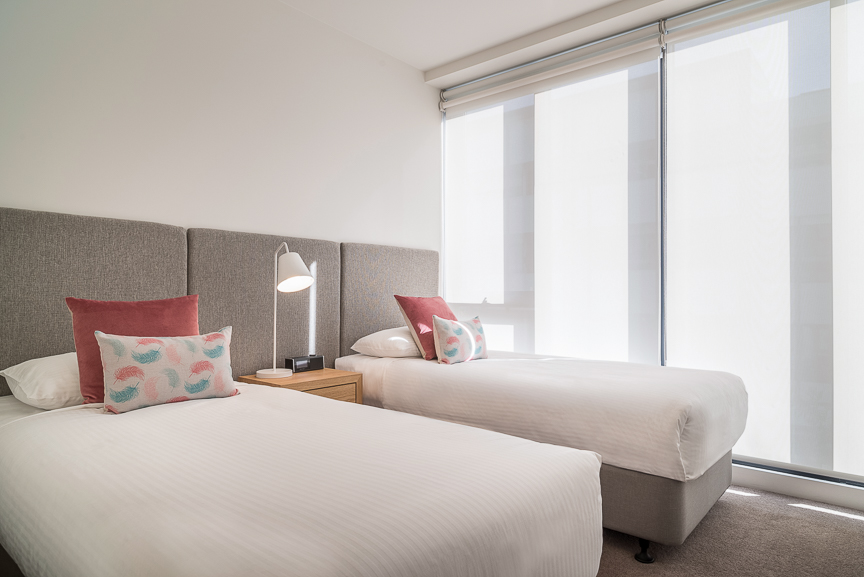 Bright bedroom at Sandy Hill Apartments