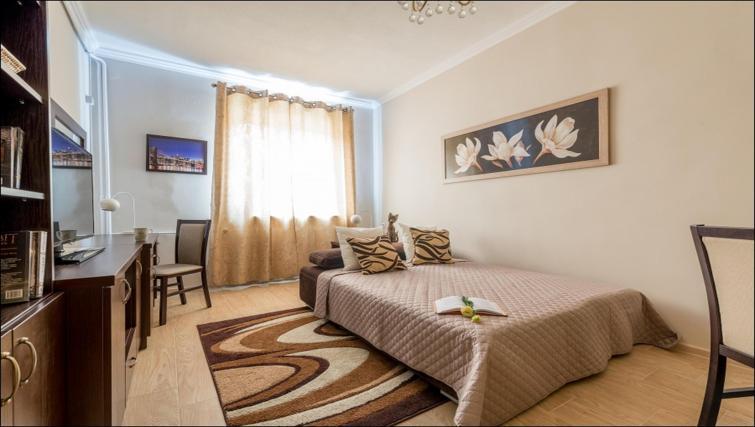Sofa bed at Freta 2 Apartment, Centre, Warsaw