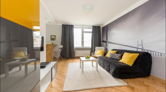 Living room at Galeria Bracka Apartment