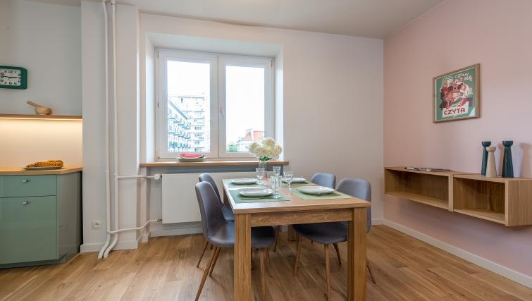 Dining area at Gorskiego Apartment, Centre, Warsaw