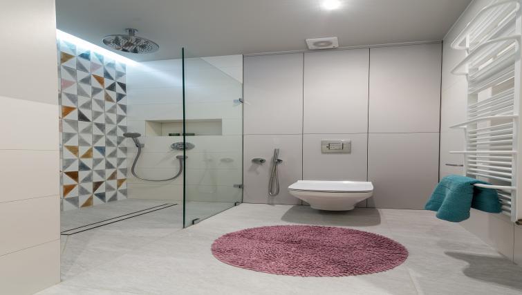 Bathroom at Gorskiego Apartment, Centre, Warsaw