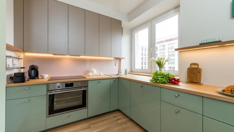 Kitchen at Gorskiego Apartment, Centre, Warsaw