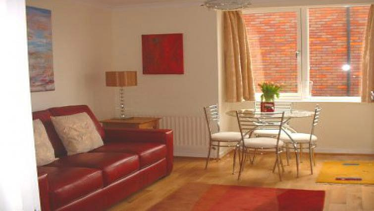 Bright living area in Tankerfield Place Apartments