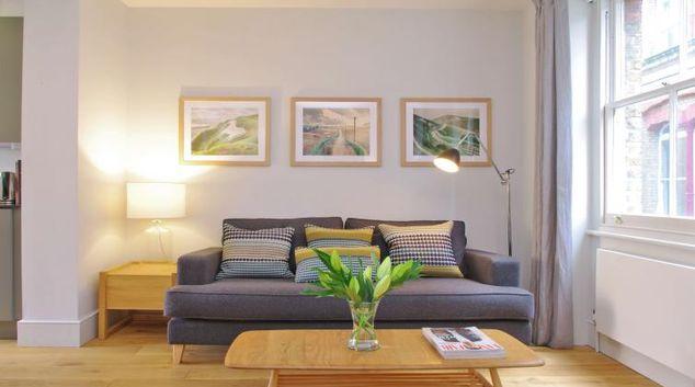 Living room at 3 Albermarle Way Apartment