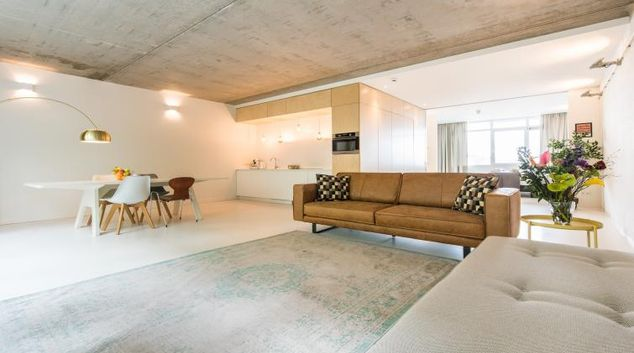 Living area at Houthavens Serviced Apartments, Amsterdam