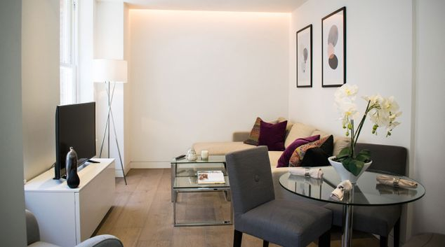 Living room at The Residence at Marylebone Lane