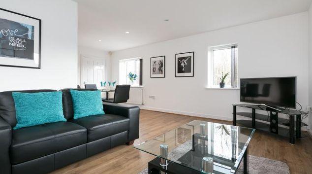 Living area at Bluestone Apartments Didsbury