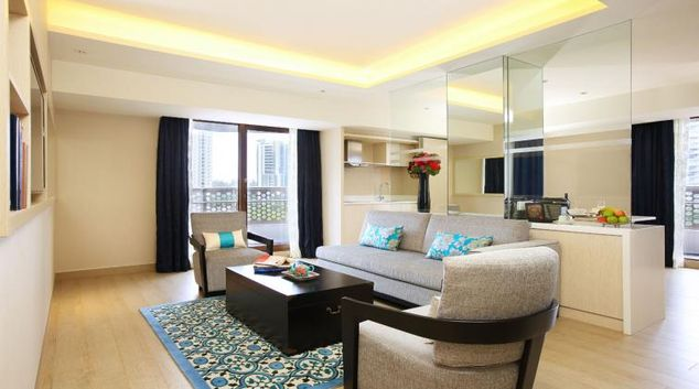Living area in 1 bed at Village Hotel Katong, Singapore