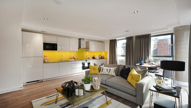 Modern kitchen at Aldgate City Apartments