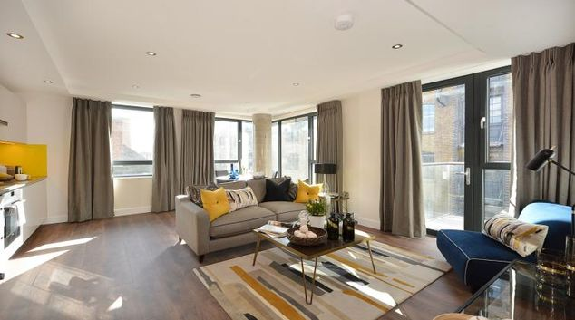 Living area at Aldgate City Apartments