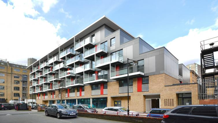 Exterior of Aldgate City Apartments
