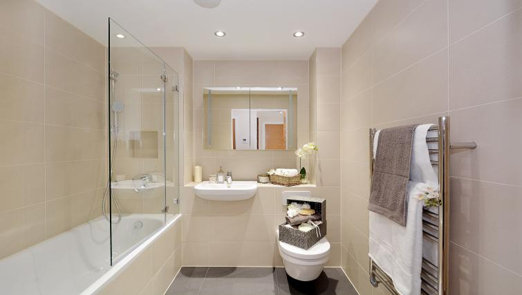 Bathroom at Aldgate City Apartments