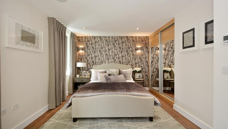 Bedroom at Aldgate City Apartments