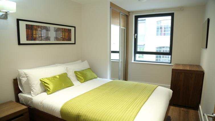Double bedroom at Aldgate City Apartments