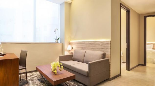 Living area at Louis Kienne Serviced Residences, Singapore