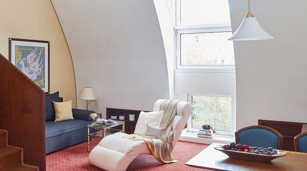 Living area at Living Hotel Prinzessin Elisabeth Apartments, Glockenbachviertel, Munich