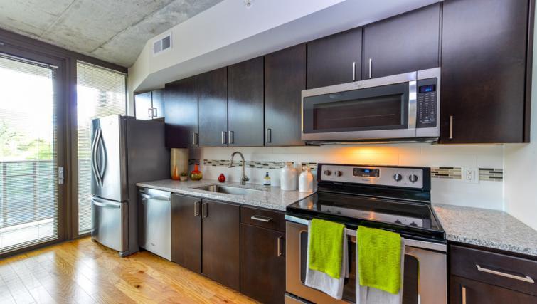 Modern kitchen at Atlantic House Atlanta