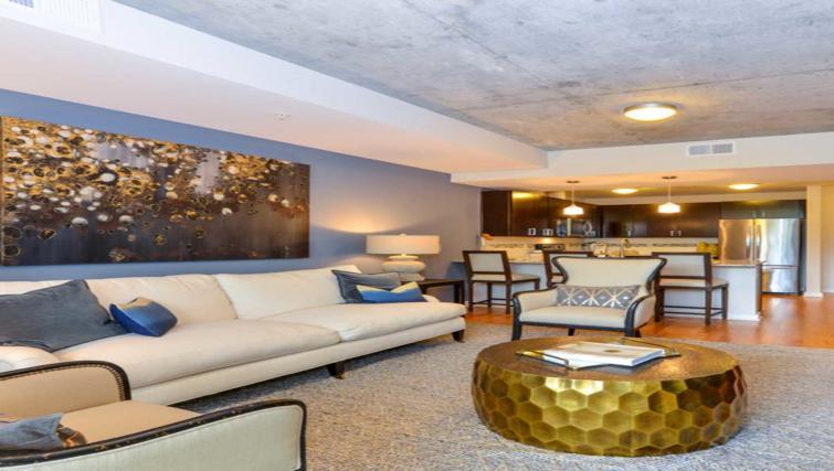 Stylish living area at Atlantic House Atlanta