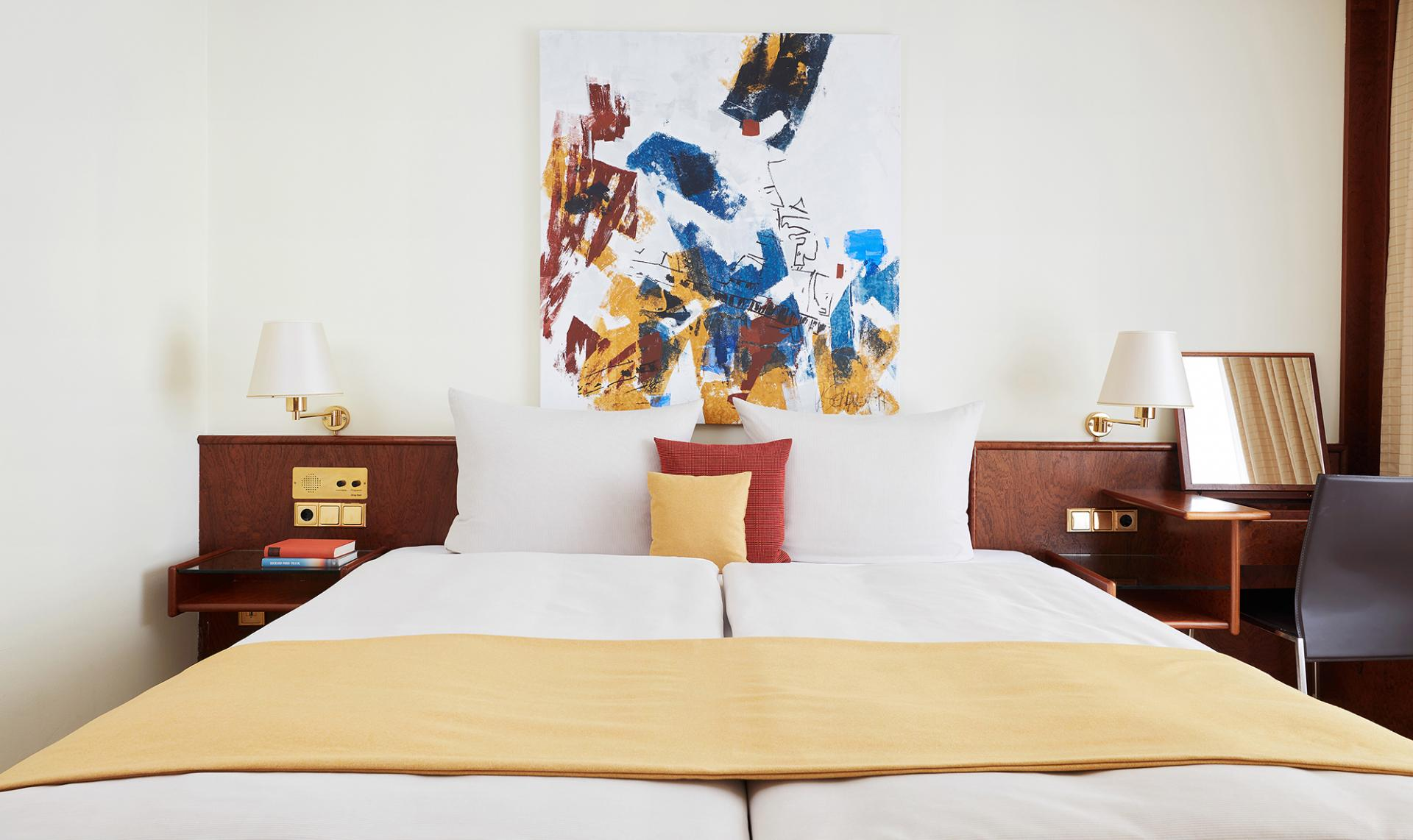 Spacious bed at Living Hotel Grosser Kurfurst Apartments, Berlin Mitte, Berlin