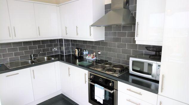 Kitchen at City Apartments - The Hub