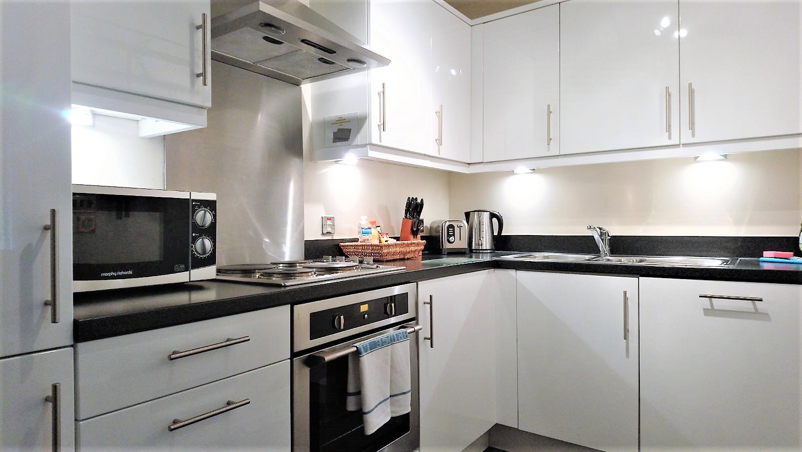 Kitchen facilities at City Apartments - The Hub