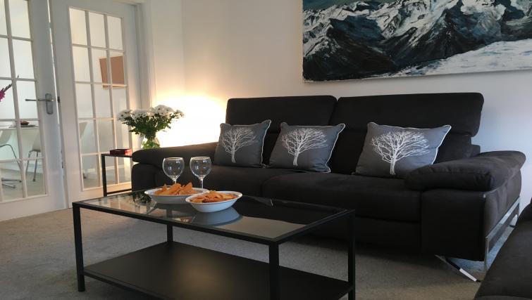 Living area at Brambling House