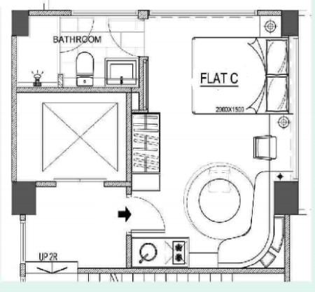 Floor plan of the Y Apartments
