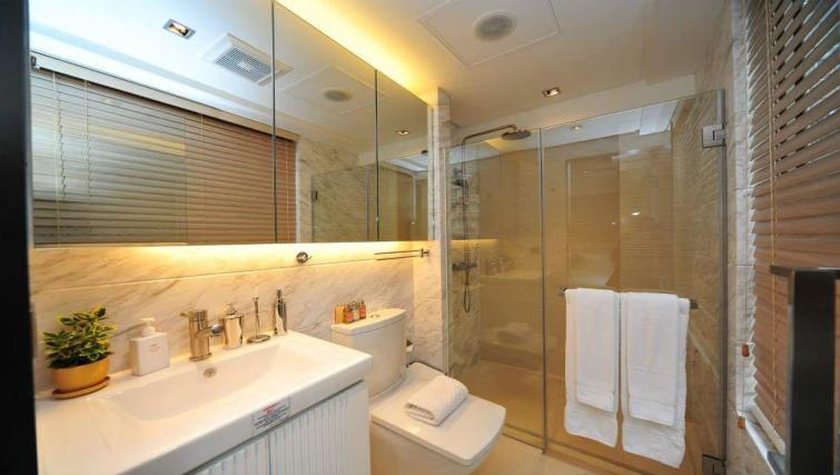 Bathroom facilities at the Y Apartments