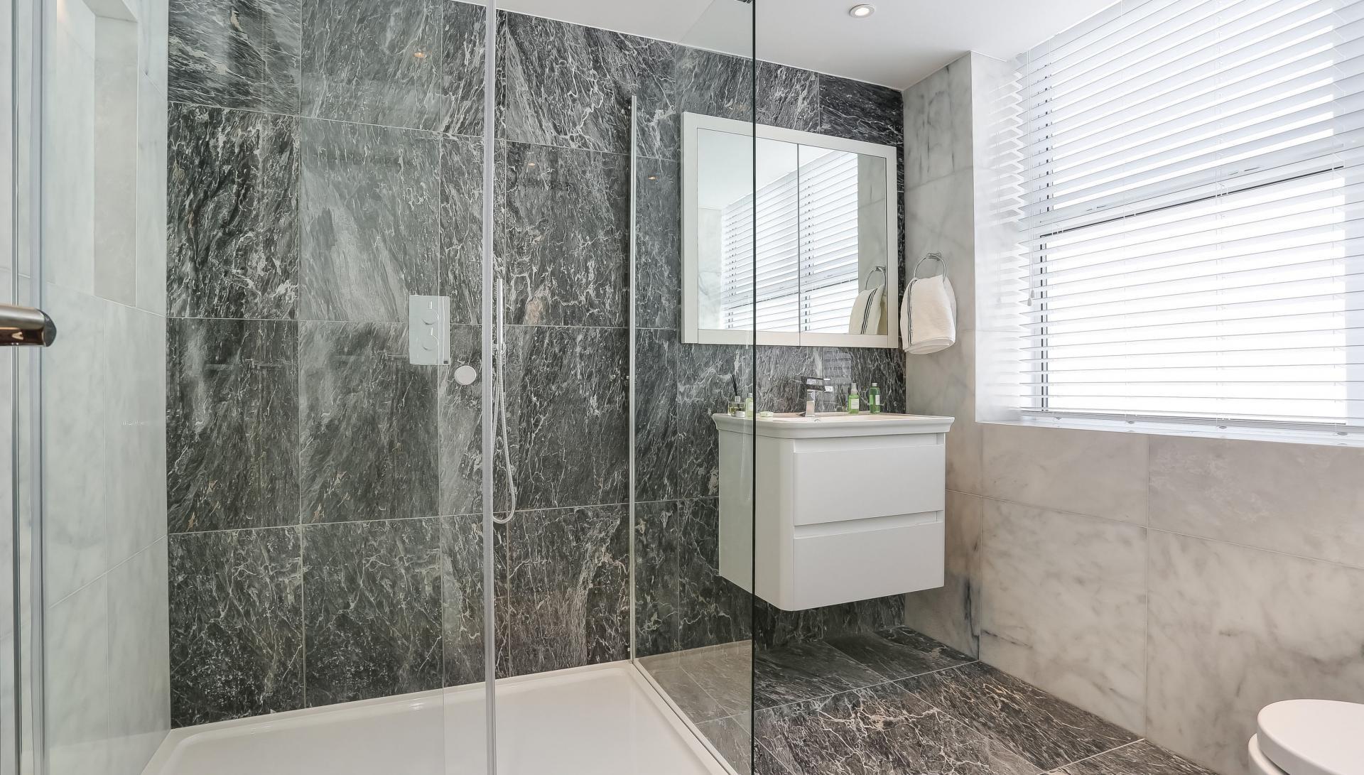 Bathroom at Buckingham Gate Apartments