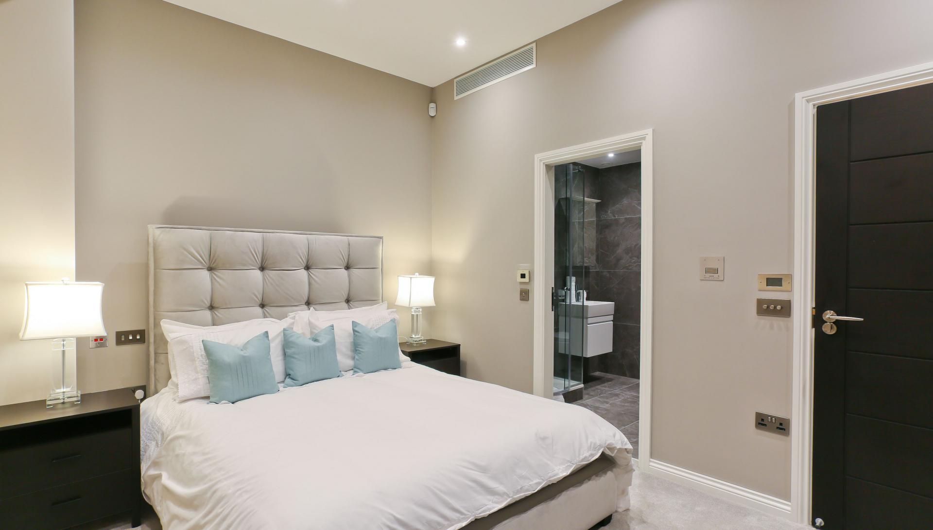 Master bedroom at Buckingham Gate Apartments