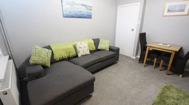 Living area at Burton Road Apartment