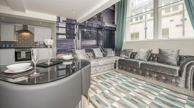Living area at Union Bank Apartments