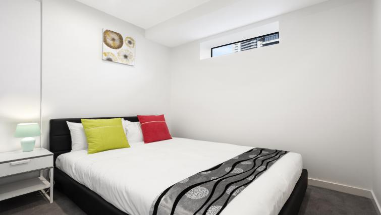 Double bed at Platinum City Serviced Apartments