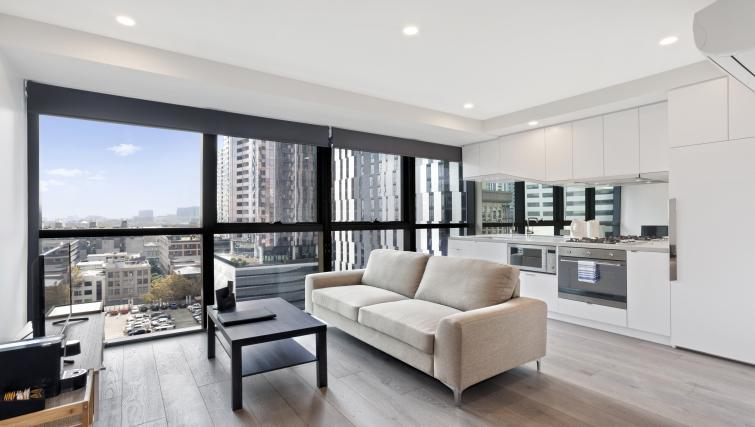 Sofa at Platinum City Serviced Apartments