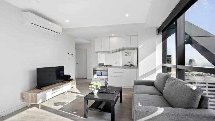 Open-plan apartment at Platinum City Serviced Apartments