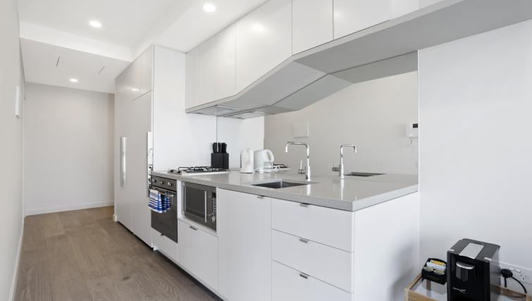 Kitchen at Platinum City Serviced Apartments