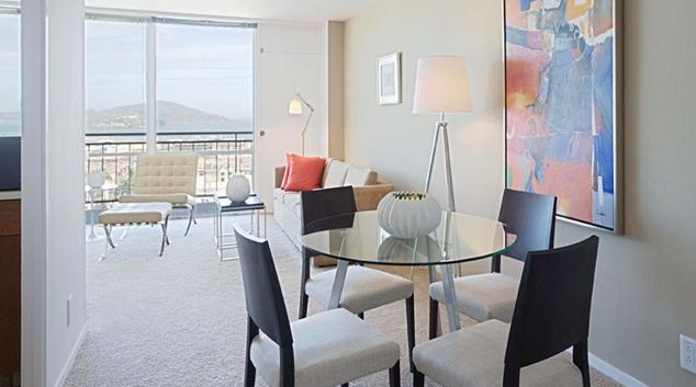 Living area at Crystal Tower Apartment