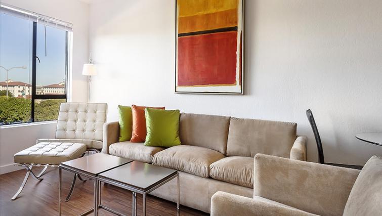 Living area at Marina Cove Apartment
