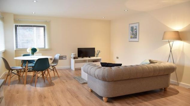 Living area at Morland House Apartments