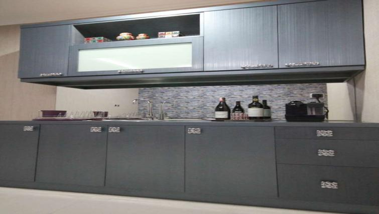Equipped kitchen at Harvia Suites